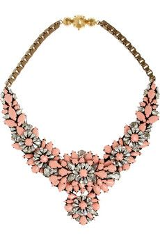 Shourouk Apolonia silver-plated Swarovski crystal necklace