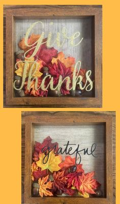 Handmade shadowboxes | Fall Decor | Thanksgiving Decor | On a budget