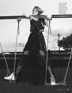 Sports Luxe | Caroline Corinth by Mark Pillai | Elle Italia March 2012