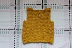 Débardeur bébé 3/6 mois en laine tricoté main : Mode Bébé par au-fil-des-saisons
