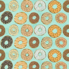 Donut Daze pattern and illustration by Mark Hoffmann. Represented by i2i Art Inc. #i2iart