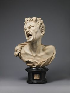 Marsyas Artist: Balthasar Permoser (German, Kammer, near Otting, Chiemgau, Bavaria 1651–1732 Dresden) Date: ca. 1680–85 Culture: German, executed Rome or Florence Medium: Marble on a black marble socle inlaid with light marble panels.