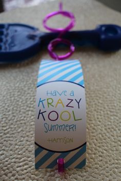 End of School Year Gift Tags- Have a Krazy Kool Summer!  These are super cute when threaded throw Krazy straws...simple, affordable gift option for your child's classmates
