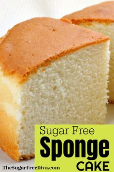 Sponge Cake Made Sugar Free! Great cake recipe for diabetics or sugar free folks. Sponge Cake Made Sugar Free! Great cake recipe for diabetics or sugar free folks. Diabetic Desserts, Healthy Snacks For Diabetics, Sugar Free Desserts, Sugar Free Recipes, Diabetic Recipes, Low Carb Recipes, Diabetic Cake, Diabetic White Cake Recipe, Deserts For Diabetics