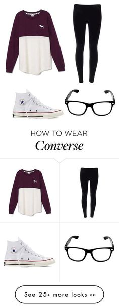 """""""Fall: chill day!!!"""" by emmagra1 on Polyvore featuring Victoria's Secret and Converse"""