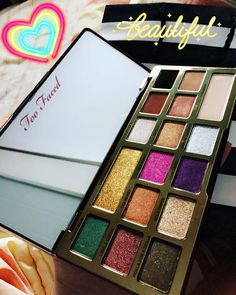Too Faced released this delicious looking eyeshadow palette! so many colorful shades for tons of makeup look inspiration and designs! This palette is such beauty goals!