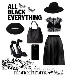 """""""Blacklove 🔝"""" by marianaloalv on Polyvore featuring moda, Nasty Gal, Steve Madden y Off-White"""