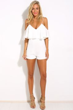 HelloMolly | Miss Lily Playsuit White - New In