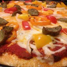 Cauliflower crust pizza blogilates