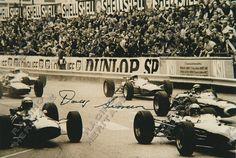 Racing Heritage Autographs South African racing driver and race car designer Doug Serrurier autographed image1962 LDS Mk2  Price $35