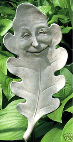 place it where someone least expects it and hope it gets a laugh. Kintsugi, Tree Faces, Garden Plaques, Papercrete, Clay Faces, Kobold, Garden Deco, Cast Stone, Paperclay