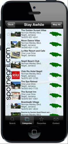 Wow! All of the places to stay in one place and mapped #Negril #Jamaica