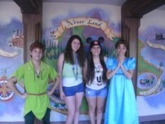 me and the bestie meeting Peter Pan and Wendy