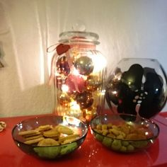 Lights and ornaments in a jar, 2014