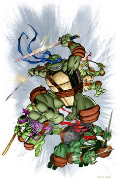 TMNT IDW #1 color...not really by MichaelDooney.deviantart.com