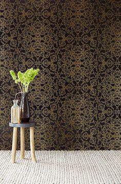 342051 Black Fractal - Marisol - Venue Wallpaper by Eijffinger