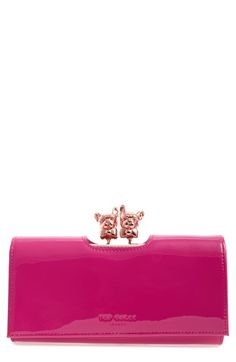 Ted Baker London Bulldog Karrine Patent Leather Wallet available at #Nordstrom