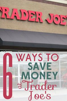 Trader Joe's already has great deals, but it still pays to shop smart there. Check out these 6 ways to save money at Trader Joe's. Money Saving Meals, Save Money On Groceries, Save Your Money, Ways To Save Money, Money Tips, Make Money From Home, How To Make Money, Money Hacks, Setting Up A Budget