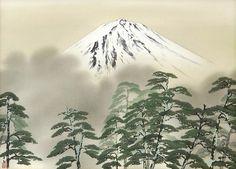 霊峰富士 (Sacred Mt Fuji), by 横山大観 Yokoyama Taikan.