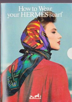 How to Wear Your Hermes Scarf Booklet 1986 Hermes of Paris Collectors Item Haute Couture. $7,66, via Etsy.