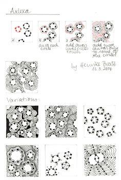 "tangle pattern ""Axlexa"" - Strohsterne basteln - Henrike Bratz"