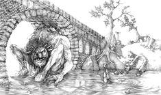 Troll Bridge - pencils by Gido.deviantart.com on @deviantART