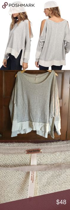 Free People Dandyline pullover A little oversized and cozy. Like new condition as it was only worn maybe twice. Super cute and effortless. Shoulders are open. Size XS. Free People Sweaters