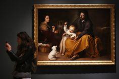 'La sagrada familia del pajarito', obra de Bartolomé Esteban Murillo incluida en la exposición.