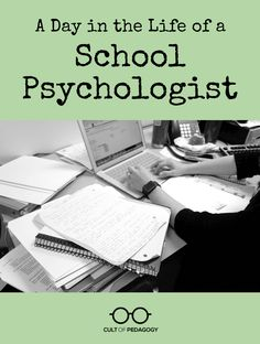 Top Ten Everyday Living Insurance Plan Misconceptions A Day In The Life Of A School Psychologist - If You Think School Psychologists Spend Most Of Their Time Counseling Students, Think Again. Faction Of Pedagogy Psychologist Office, Educational Psychologist, Educational Leadership, Psychology Student, Psychology Quotes, Psychology Careers, Cult Of Pedagogy, Future School, Future Career