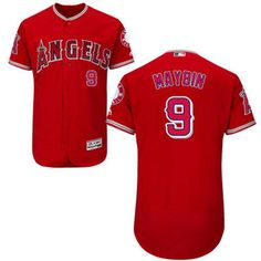 Angels of Anaheim #9 Cameron Maybin Red Flexbase Authentic Collection Stitched MLB Jersey