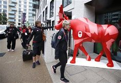 Members of the Canadian women's soccer team arrive at the Athletes' Village at the Olympic Park, Wednesday, July in London. Olympic Athletes, Olympic Team, Olympic Games, Centennial College, 2012 Games, Olympic Village, Summer Games, Summer Olympics, Home And Away