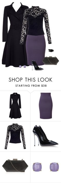 """""""Untitled #337"""" by xanita ❤ liked on Polyvore featuring Oscar de la Renta, Versace, Lipsy, Casadei, Kate Spade, Versus, women's clothing, women, female and woman"""