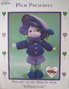 Dumplin Designs Lollipop Lane Plum Preserves Crochet Doll Pattern
