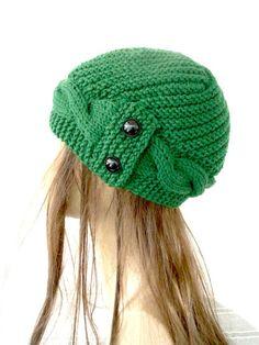 Bonnet tricoté à la main-chapeau d'hiver - Femmes chapeau cloche chapeau Accessoires avoine d'hiver beige Fashion Cadeau Saint-Valentin