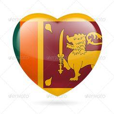 Buy Heart Icon of Sri Lanka by Dvarg on GraphicRiver. I love Sri Lanka. Heart with flag design Sri Lanka Flag, Sri Lanka Surf, Pray For Sri Lanka, Sri Lanka Photography, Sri Lanka Holidays, Arugam Bay, West Indies, World Heritage Sites, Independence Day