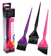 Framar Hair Coloring Brush Set 3 Pack - Pink, Purple, Black
