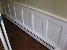 wainscoting with baseboard heater