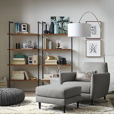Love the idea of this Overarching Floor Lamp from west elm in a ...