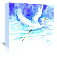 "East Urban Home Heron 5 Graphic Art on Wrapped Canvas Size: 5"" H x 7"" W x 1.5"" D"