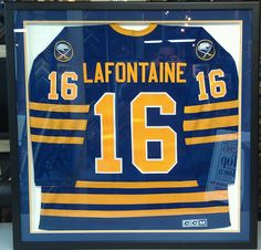 Custom framed Buffalo Sabres NHL jersey! Custom framed by FastFrame of LoDo.  Buffalo Hockey fcdc4c43a