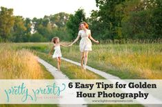 Have you heard of the photography Golden Hour? I am obsessed with shooting during this time of day. In this tutorial, I explain what Golden Hour is, and give you some easy tips to take advantage of the gorgeous golden hour light for more gentle and even lighting of your subjects in photographs.
