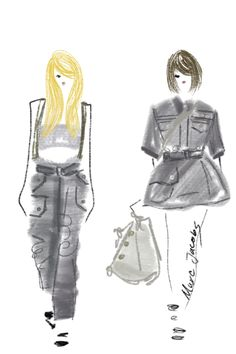HAUTE SKETCH BLOG / DESIGNSBYBC: NYFW: Spring 2015 RTW: Marc Jacobs| Be Inspirational❥|Mz. Manerz: Being well dressed is a beautiful form of confidence, happiness & politeness