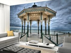 Brighton Bandstand wall mural room setting