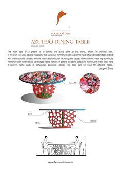 #IDEA #1, #JevgeniSvedBOCADOLOBO,  First idea:  AZULEJO DINING TABLE