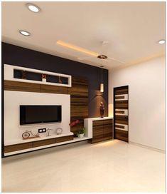 Tv Unit Interior Design, Tv Unit Furniture Design, Interior Design Presentation, Apartment Interior Design, Modern Tv Unit Designs, Living Room Tv Unit Designs, Modern Tv Wall Units, Tv Cupboard Design, Lcd Wall Design