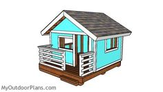 DIY Playhouse Plans | MyOutdoorPlans | Free Woodworking Plans and Projects, DIY Shed, Wooden Playhouse, Pergola, Bbq