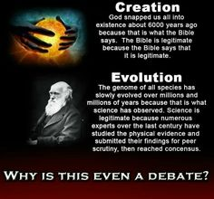 Evolution vs creationism... why is this even being debated?