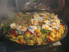 Patatas pobres, from the annual  Medieval Market in Fuengirola, Spain.
