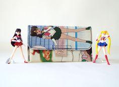 SAILOR JUPITER Tabaktasche Manga Anime Comic upcycling Unikat! Tabakbeutel, Tabaketui, Sailor Moon Anime Tasche Recycling handmade in Berlin von PauwPauw auf Etsy