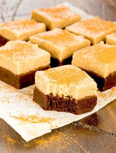 Mexican Chocolate Brownies with Cinnamon Buttercream Frosting